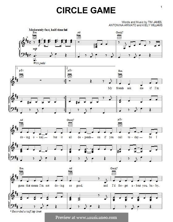 Circle Game (The Cheetah Girls): Für Stimme und Klavier (oder Gitarre) by Antonina Armato, Kiely Williams, Timothy James