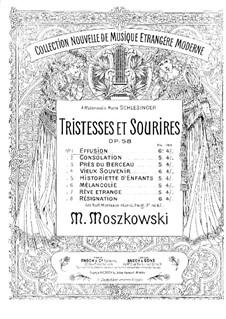 Tristesses et sourires, Op.58: Tristesses et sourires by Moritz Moszkowski