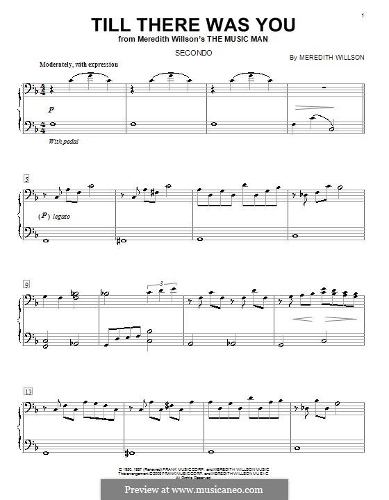 Till There Was You: Für Klavier, vierhändig by Meredith Willson