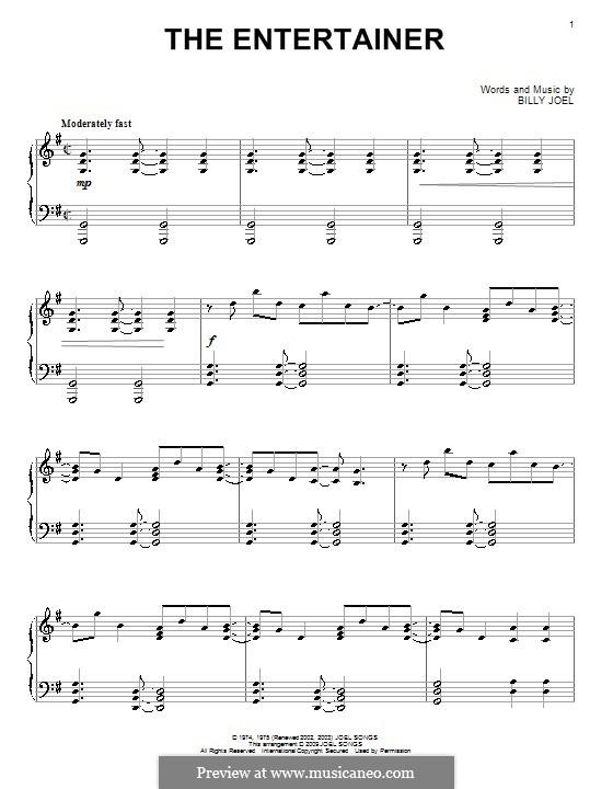 The Entertainer: Für Klavier by Billy Joel