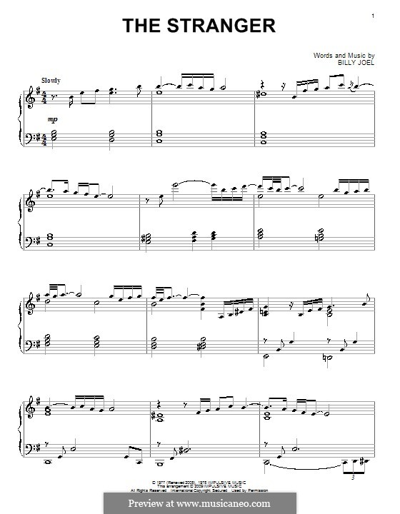 The Stranger: Für Klavier by Billy Joel