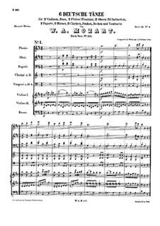 Sechs deutsche Tänze, K.571: Sechs deutsche Tänze by Wolfgang Amadeus Mozart