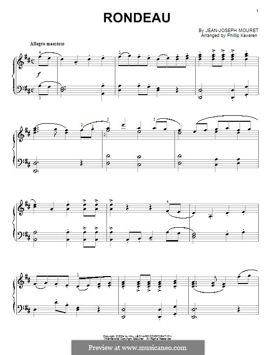 Rondo: Für Klavier by Jean-Joseph Mouret