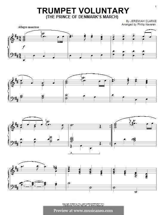 Prince of Denmark's March: Für Klavier by Jeremiah Clarke