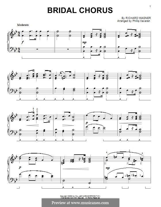 Brautlied: Für Klavier (Version von P. Keveren) by Richard Wagner