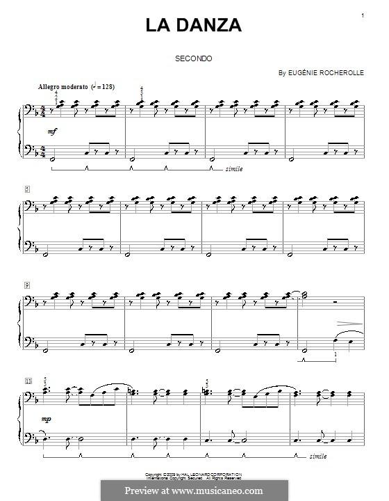 La Danza: Für Klavier, vierhändig by Eugénie Rocherolle