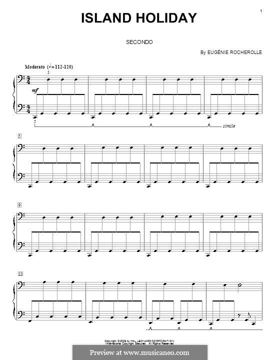 Island Holiday: Für Klavier, vierhändig by Eugénie Rocherolle