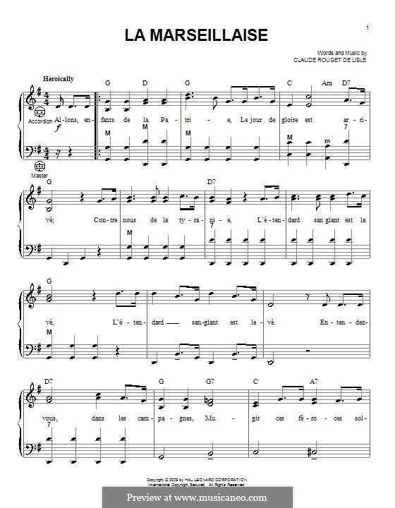 Marseilles Hymn: Für Akkordeon by Rouget de Lisle