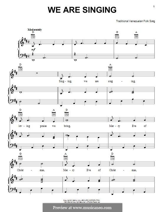 We are Singing: Für Stimme und Klavier (oder Gitarre) by folklore