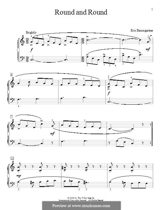 Round and Round: Für Klavier by Eric Baumgartner