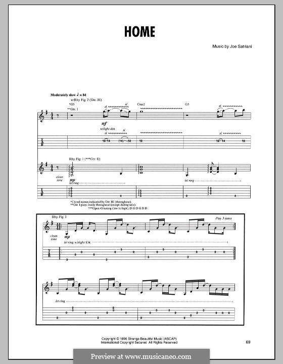 Home: Für Gitarre mit Tabulatur by Joe Satriani
