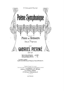 Sinfonische Poem, Op.37: Vollpartitur by Gabriel Pierné