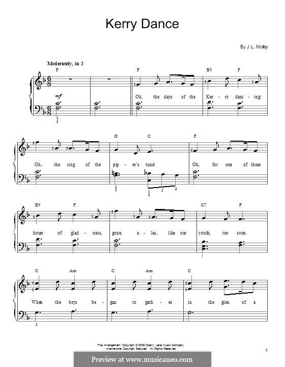 The Kerry Dance: Für Klavier by James L. Molloy