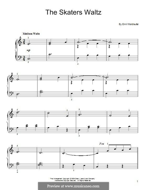 The Skaters Waltz: Für Klavier by Emil Waldteufel