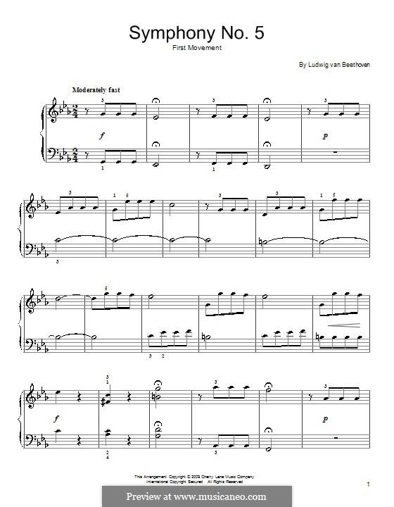 Teil I: Version für Klavier by Ludwig van Beethoven