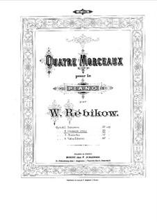 Vier Klavierstücke, Op.6: Vier Klavierstücke by Wladimir Rebikow