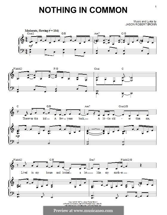Nothing in Common: Für Stimme und Klavier (oder Gitarre) by Jason Robert Brown