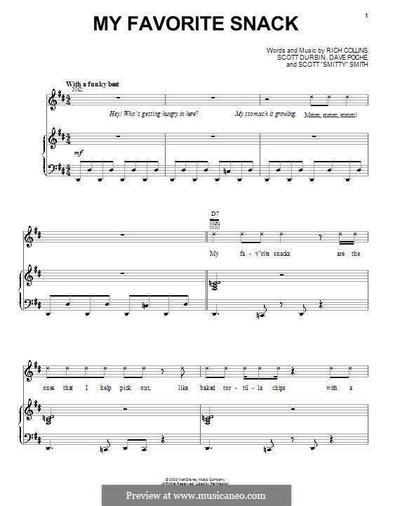 My Favorite Snack (Imagination Movers): Für Stimme und Klavier (oder Gitarre) by Dave Poche, Rich Collins, Scott Durbin, Scott Smith