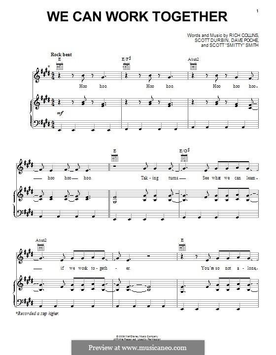 We Can Work Together (Imagination Movers): Für Stimme und Klavier (oder Gitarre) by Dave Poche, Rich Collins, Scott Durbin, Scott Smith