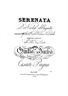 Serenade für Bratsche und Streichtrio: Serenade für Bratsche und Streichtrio by Cesare Pugni