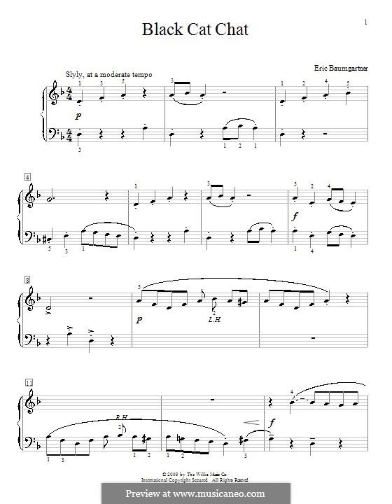 Black Cat Chat: Für Klavier by Eric Baumgartner