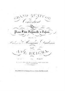 Grosses Quartett in Es-Dur, Op.104: Grosses Quartett in Es-Dur by Anton Reicha