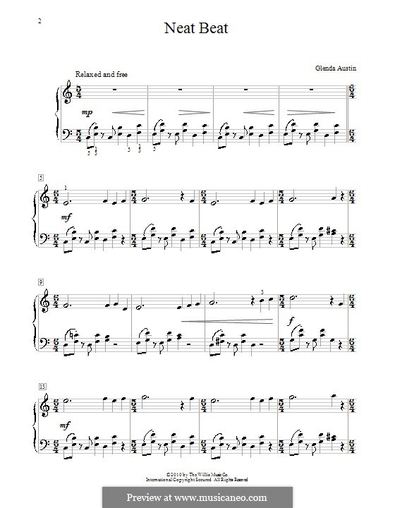 Neat Beat: Für Klavier by Glenda Austin