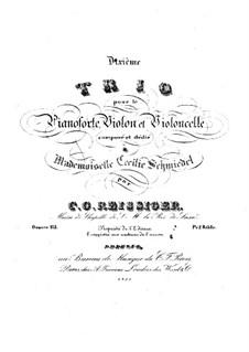 Klaviertrio Nr.10, Op.115: Klaviertrio Nr.10 by Carl Gottlieb Reissiger
