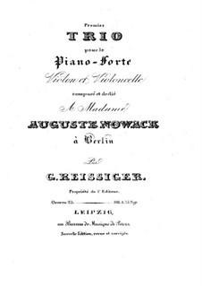 Klaviertrio Nr.1, Op.25: Stimmen by Carl Gottlieb Reissiger