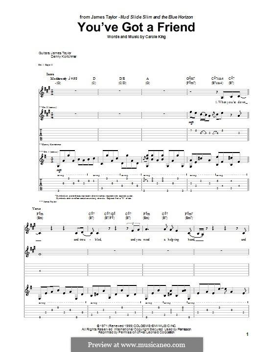 You've Got a Friend: Für Stimme und Gitarre by Carole King