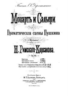 Mozart und Salieri, Op.48: Mozart und Salieri by Nikolai Rimsky-Korsakov