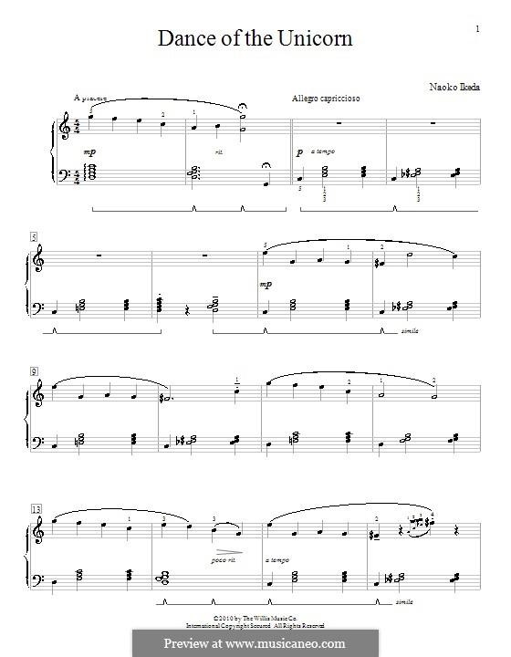 Dance of the Unicorn: Für Klavier by Naoko Ikeda