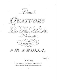 Zwei Quartette für Flöte und Streicher, BI 418, 415: Zwei Quartette für Flöte und Streicher by Alessandro Rolla