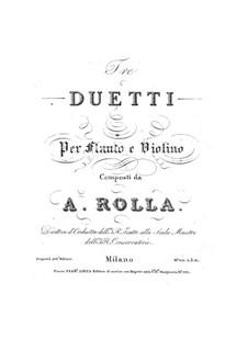 Drei Duos für Flöte und Violine: Drei Duos für Flöte und Violine by Alessandro Rolla