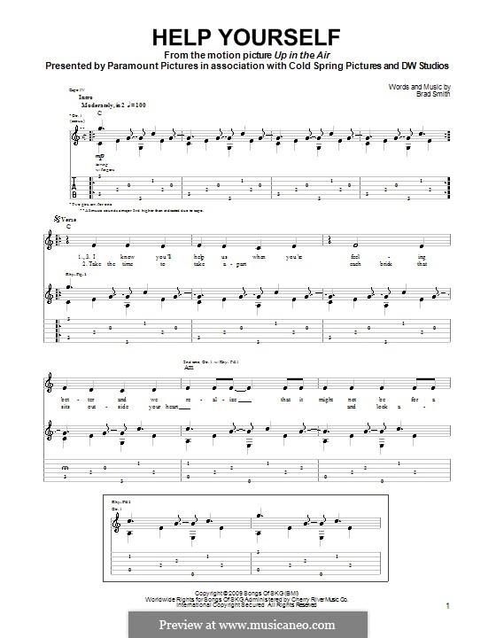 Help Yourself: Für Gitarre mit Tab by Brad Smith