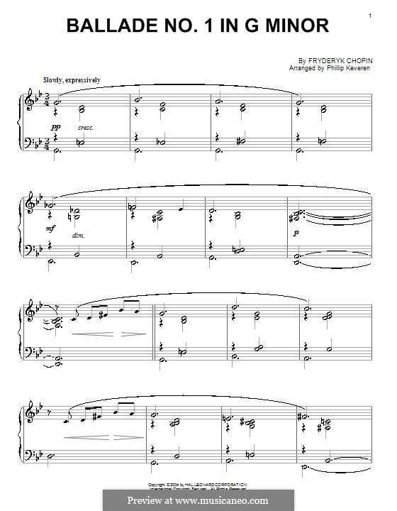 Ballade Nr.1 in g-Moll, Op.23: Version von P. Keveren by Frédéric Chopin