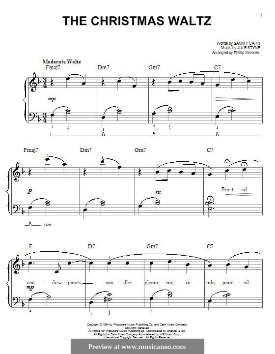 The Christmas Waltz: Für Klavier, leicht by Jule Styne