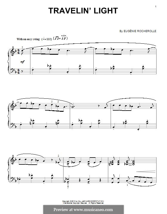 Travelin' Light: Für Klavier by Eugénie Rocherolle