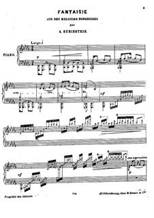 Fantasie über ungarische Melodien: Für Klavier by Anton Rubinstein