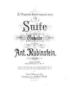 Suite für Orchester, Op.119: Suite für Orchester by Anton Rubinstein