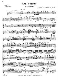 Les adieux , Op.9: Les adieux  by Pablo de Sarasate