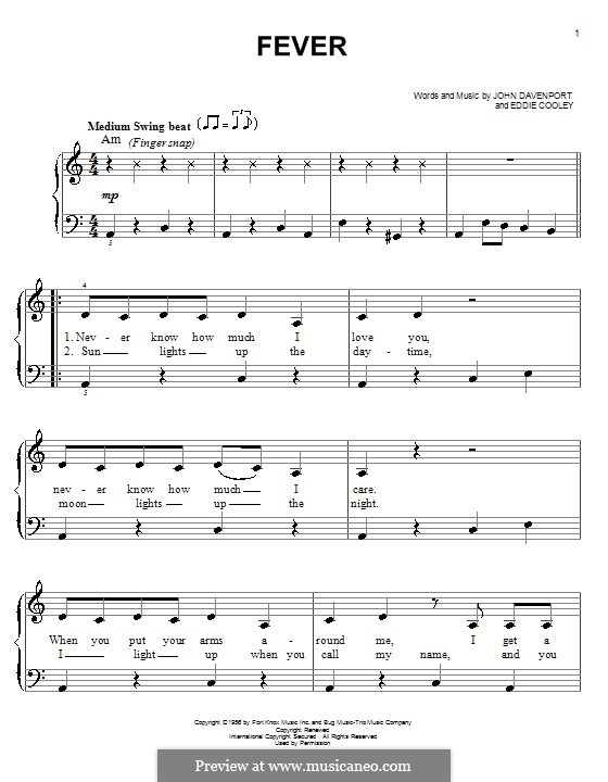 Fever: For easy piano (Michael Buble) by Eddie Cooley, John Davenport