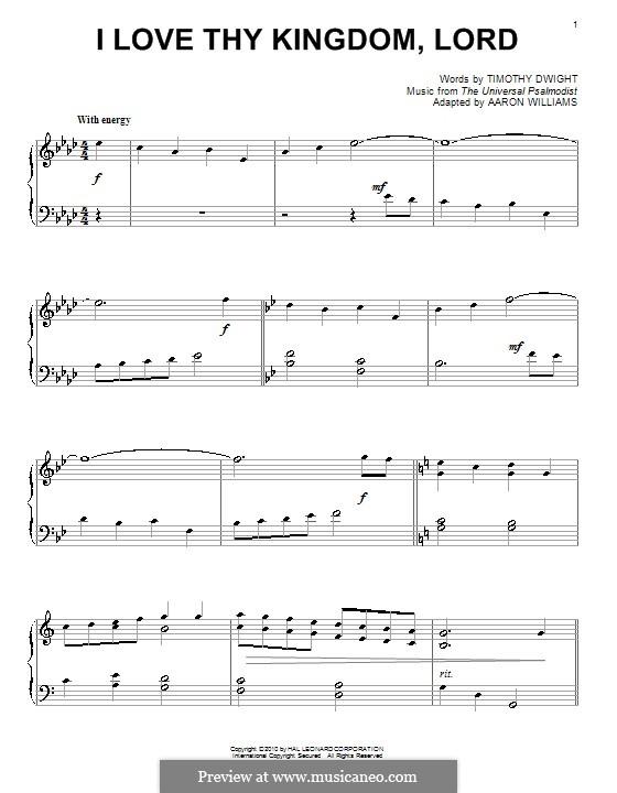 Ich liebe Herr dein Haus: Für Klavier by folklore