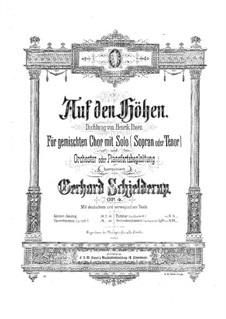Auf den Höhen, Op.4: Auf den Höhen by Gerhard Schjelderup