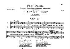 Grüner wird die Au, D.199: Grüner wird die Au by Franz Schubert