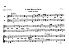 Der Morgenstern, D.203: Der Morgenstern by Franz Schubert