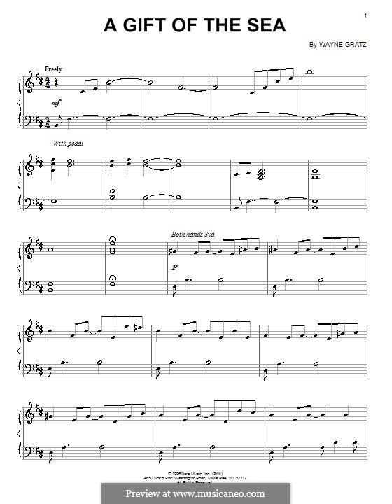 A Gift of the Sea: Für Klavier by Wayne Gratz
