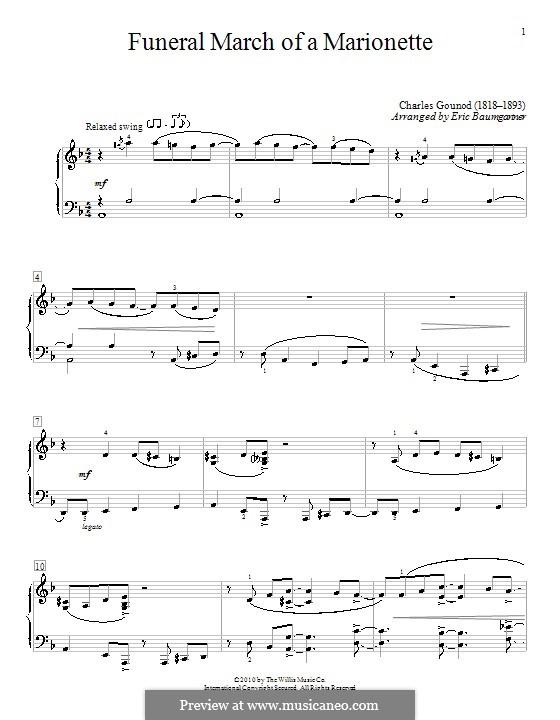 Trauermarsch einer Marionette: Für Klavier (Version von E. Baumgartner) by Charles Gounod