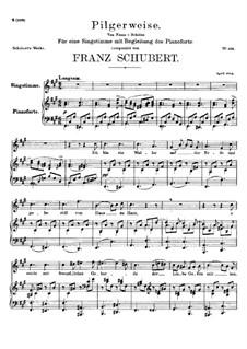 Pilgerweise, D.789: Für Stimme und Klavier by Franz Schubert