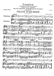 Trinklied, D.888: Trinklied by Franz Schubert